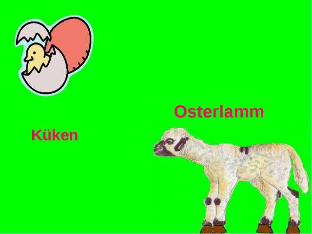 Küken Osterlamm
