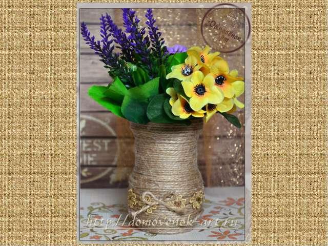 Как сделать декоративную вазу с цветами своими руками