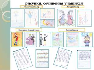 рисунки, сочинения учащихся Классический жанр Народный жанр Спортивно-бальны