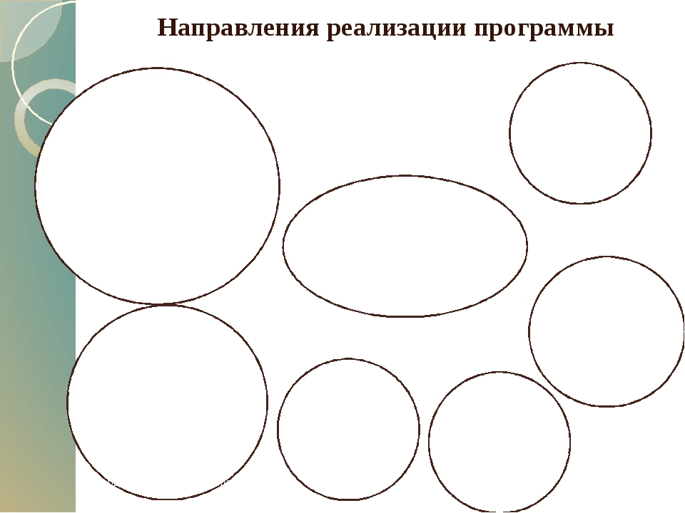 Направления реализации программы