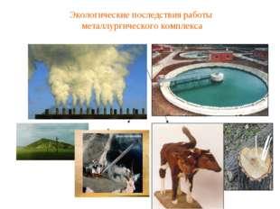Экологические последствия работы металлургического комплекса Загрязнение атмо