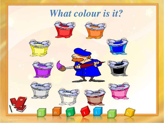 red yellow purple grey brown white black blue orange pink What colour is it?