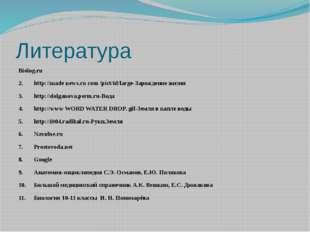 Литература Biolog.ru 2.http://made news.ru com /pict/id/large-Зарождение жиз