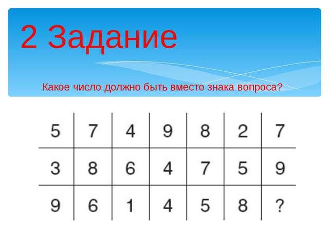 Какое число должно быть вместо знака вопроса? 2 Задание Описание: 5749827 + 3...