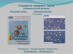 Учащиеся среднего звена (общешкольный уровень) Пальянова Алёна, Мережкова Фат