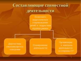 Составляющие совместной деятельности
