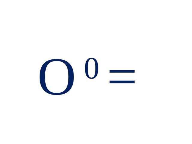 О 0 =