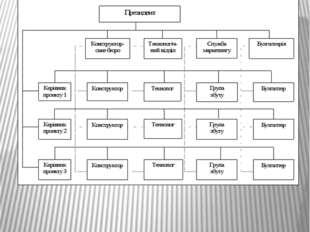 Принципова схема матричної організаційної структури