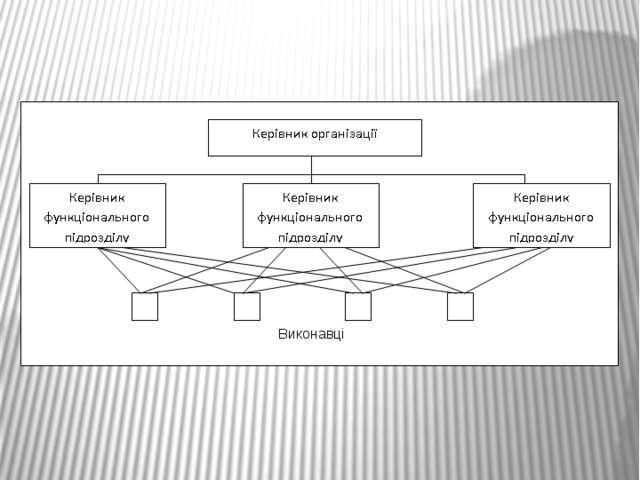 Виконавці Принципова схема функціональної організаційної структури