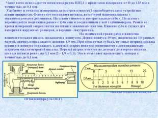 Чаще всего используется штангенциркуль ШЦ-1 с пределами измерения от О до 125