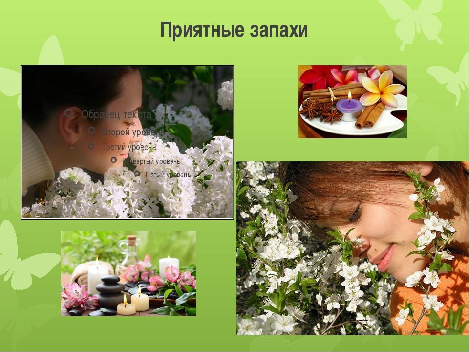 Приятные запахи