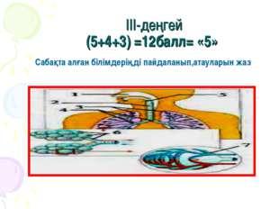 III-деңгей (5+4+3) =12балл= «5» Сабақта алған білімдеріңді пайдаланып,атаулар