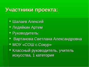 Участники проекта: Шалаев Алексей Ледяйкин Артем Руководитель: Вартанова Свет