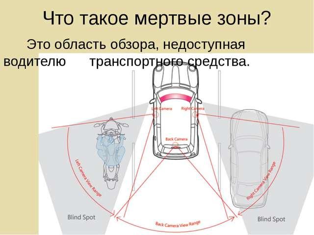 Что такое мертвые зоны? Это область обзора, недоступная водителю транспортног...