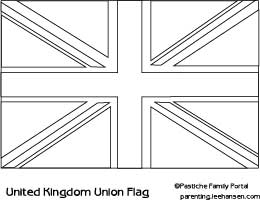 England Flag Coloring