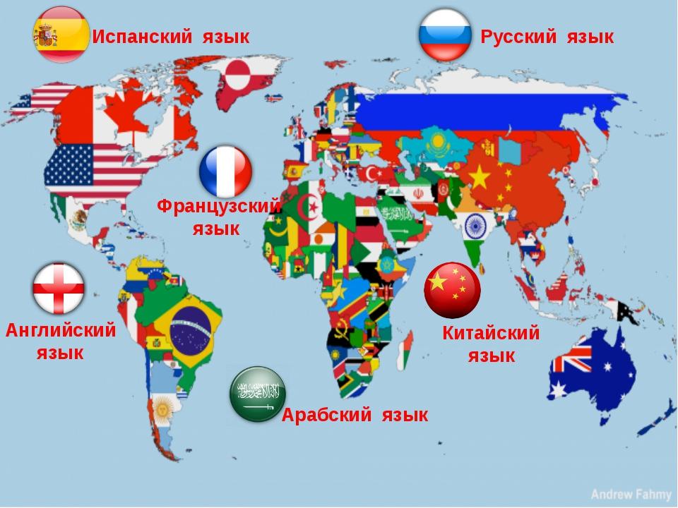 Английский язык Французский язык Русский язык Испанский язык Арабский язык Ки...