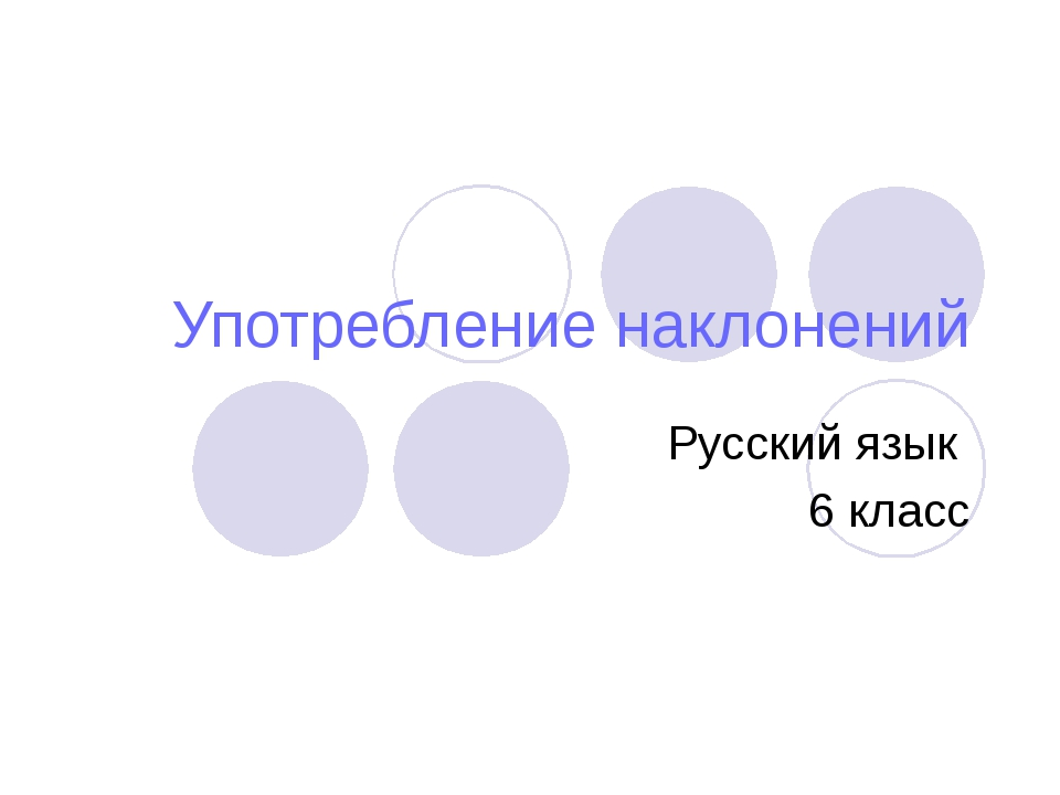 Употребление наклонений Русский язык 6 класс