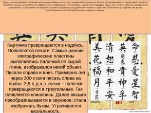 Единственной древней системой письма идеографического типа, оказавшейся жизне