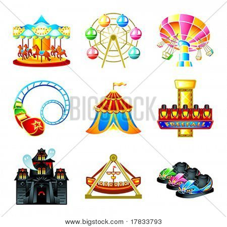 Attraction icons - Stock Vector sahuad #7089713