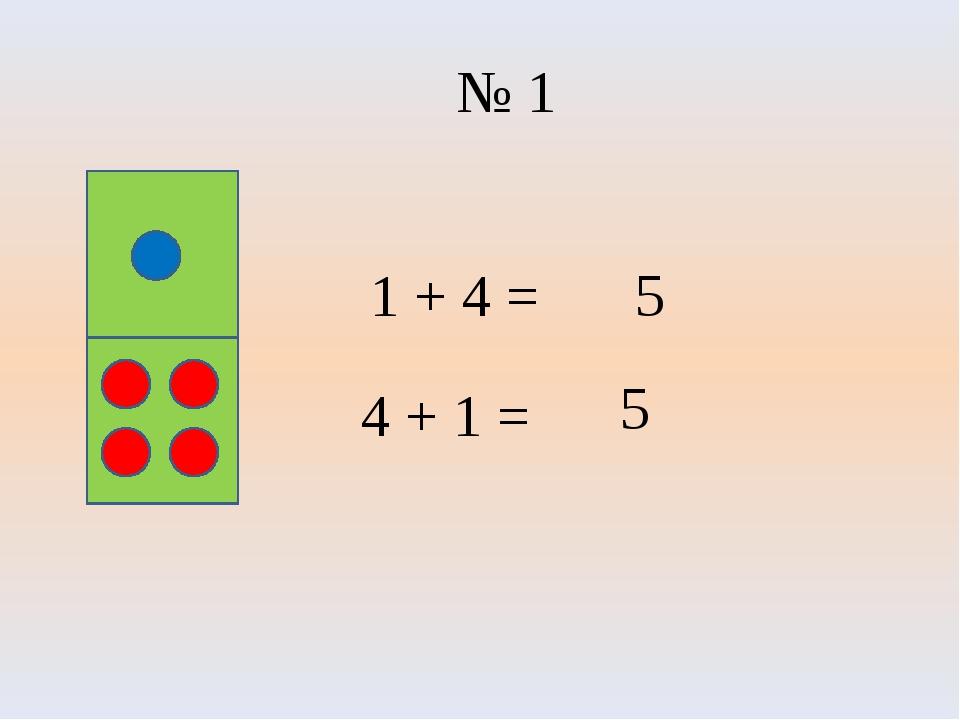 № 1 5 4 + 1 = 1 + 4 = 5