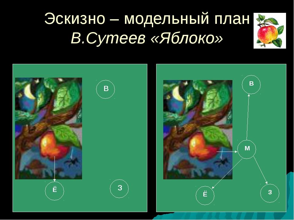 Эскизно – модельный план В.Сутеев «Яблоко» Ё З В Ё В З М