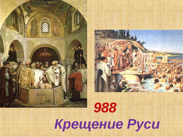 988 Крещение Руси