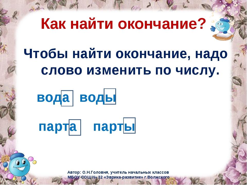 Презентация По Русскому Языку Знакомство С Окончанием