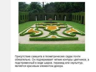 Присутствие самшита в геометрических садах почти обязательно. Он подчеркивает