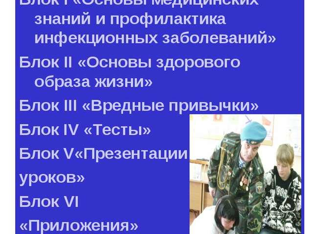 ПЛАН Блок I «Основы медицинских знаний и профилактика инфекционных заболевани...
