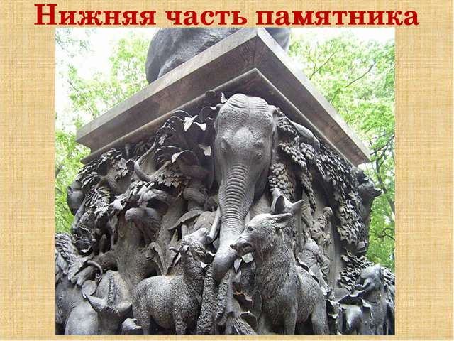 Нижняя часть памятника