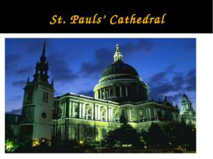 St. Pauls' Cathedral