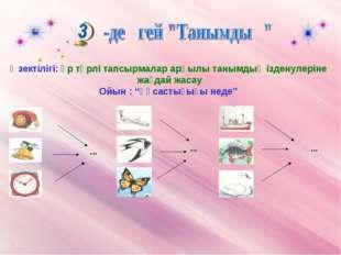Өзектілігі: әр түрлі тапсырмалар арқылы танымдық ізденулеріне жағдай жасау Ой