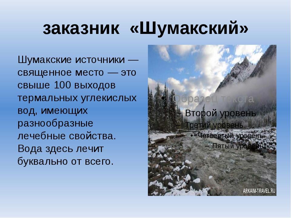 заказник «Шумакский» Шумакские источники— священное место— это свыше 100 вы...