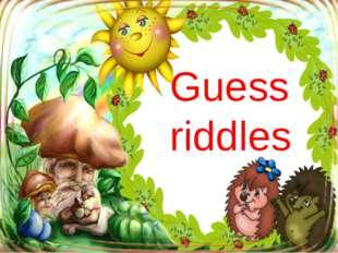 Guess riddles