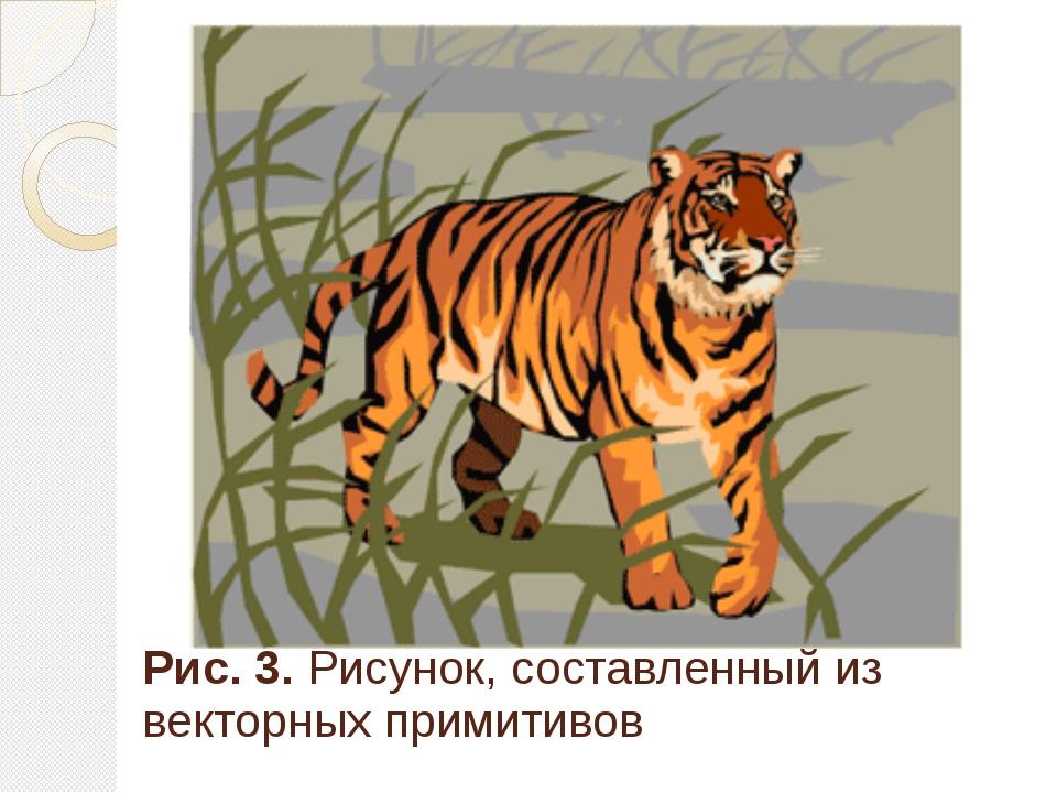 Рис. 3. Рисунок, составленный из векторных примитивов