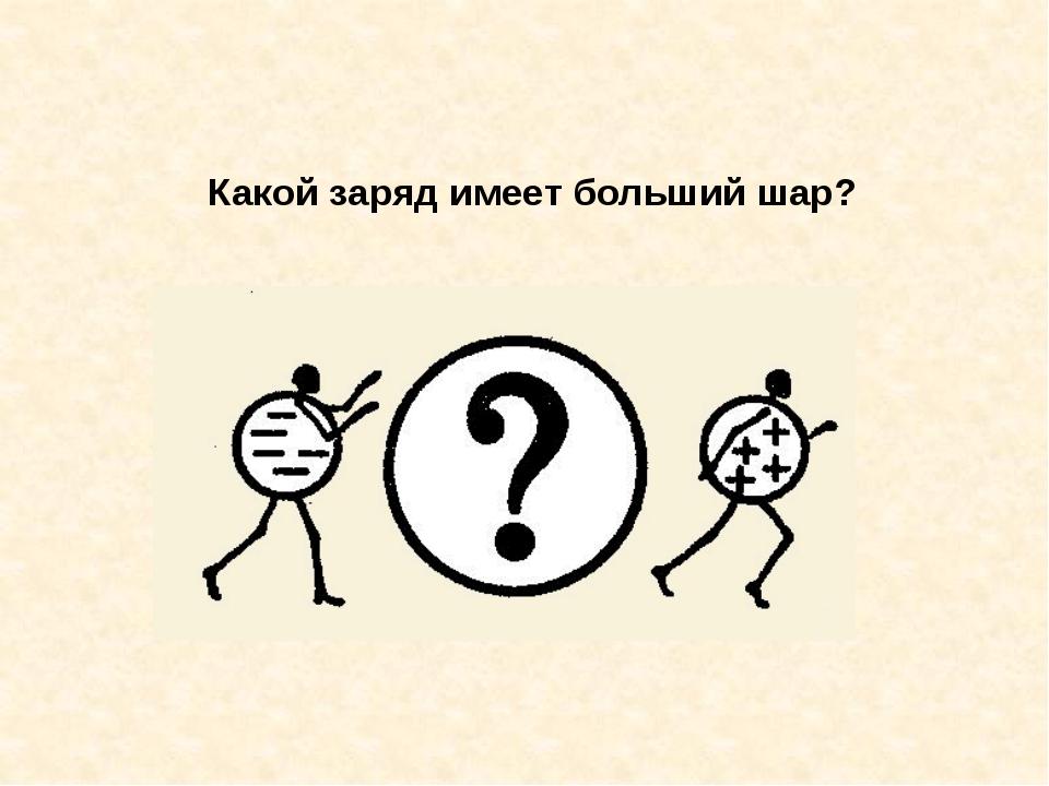 Какой заряд имеет больший шар?