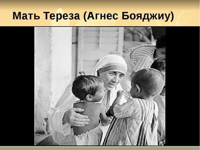 Мать Тереза (Агнес Бояджиу)