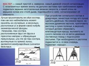 КОСТЕР — самый простой и, наверное, самый древний способ сигнализации. С неза