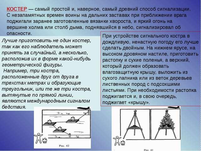 КОСТЕР — самый простой и, наверное, самый древний способ сигнализации. С неза...