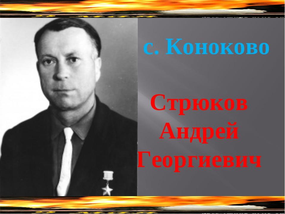 Стрюков Андрей Георгиевич с. Коноково