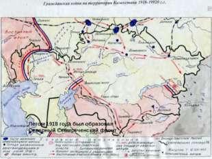 Летом 1918 года был образован Северный Семиреченский фронт