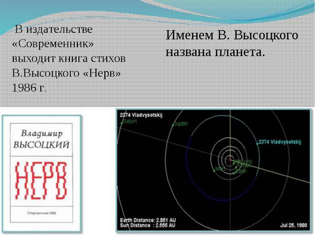 В издательстве «Современник» выходит книга стихов В.Высоцкого «Нерв» 1986 г....