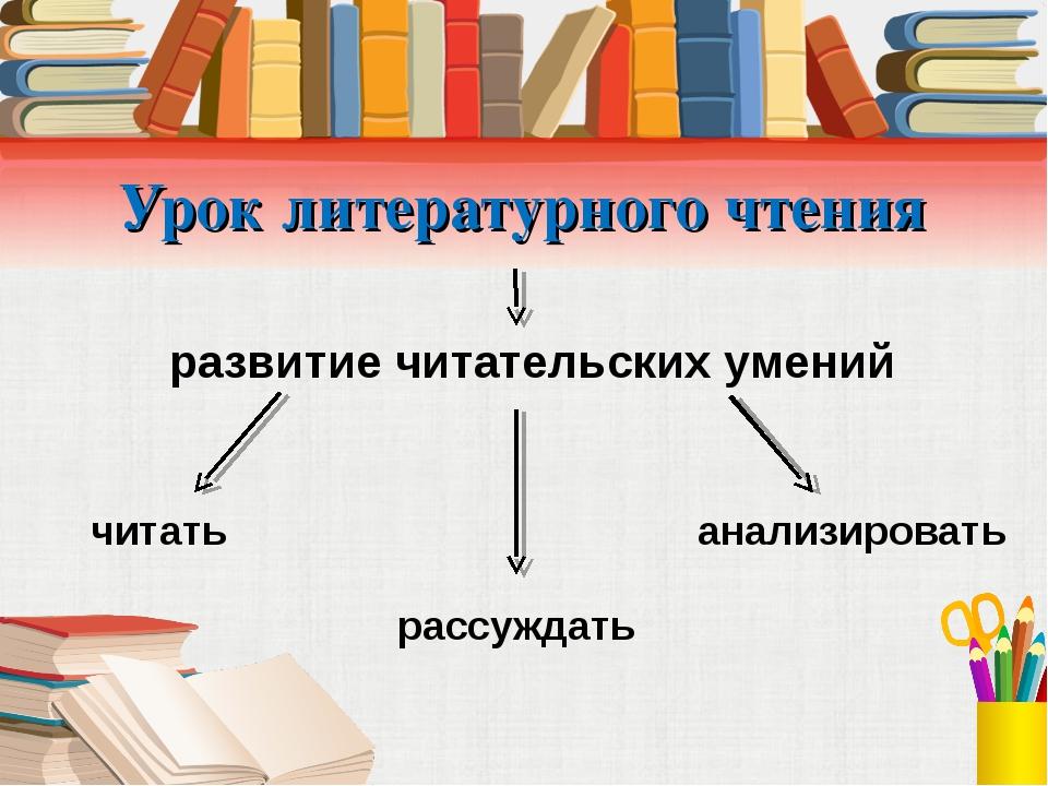 Урок литературного чтения развитие читательских умений читать рассуждать анал...