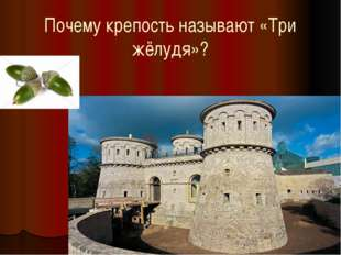 Почему крепость называют «Три жёлудя»?