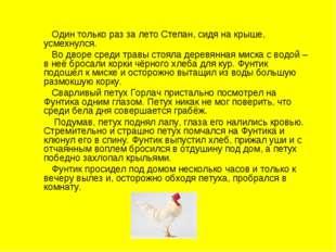 Один только раз за лето Степан, сидя на крыше, усмехнулся. Во дворе среди тр