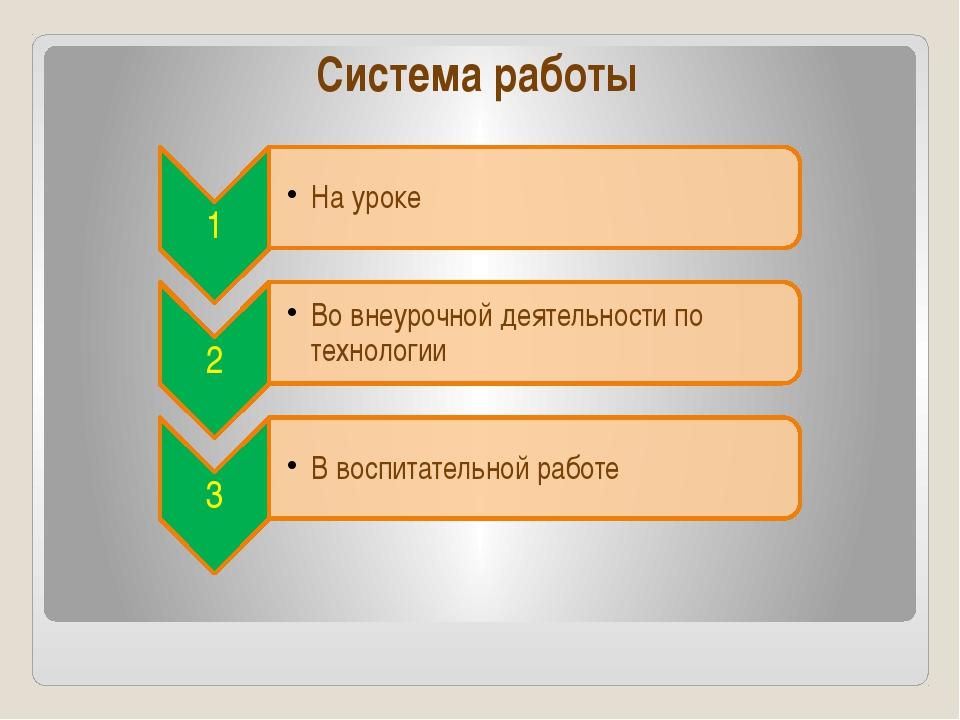Система работы