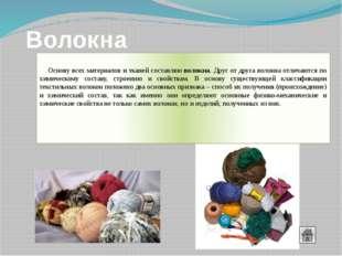 Химические волокна Химические волокна—волокна (нити), получаемые промышленн