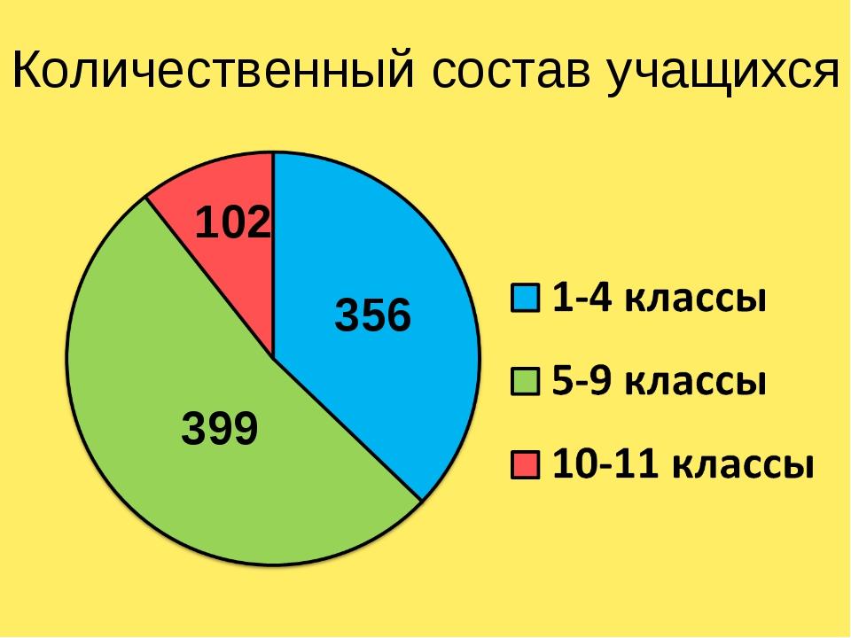 Количественный состав учащихся 356 102 399