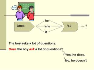 The boy asks a lot of questions. Does the boy ask a lot of questions?