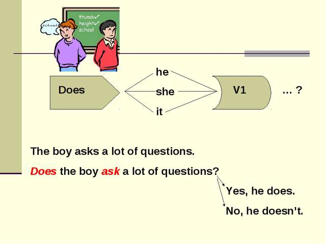 The boy asks a lot of questions. Does the boy ask a lot of questions?...